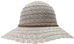 Yacht & Smith Cotton Crochet Sun Hat Soft Lace Design, Style A - Rose 20 pack