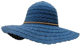 Yacht & Smith Cotton Crochet Sun Hat Soft Lace Design, Style B - Navy