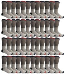 Yacht & Smith Men's Winter Thermal Tube Socks Size 10-13 48 pack