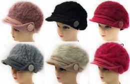 Faux Rabbit Fur Lady's Winter Hats 36 pack