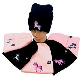 Unicorn Knitted Cuffed Hat 36 pack