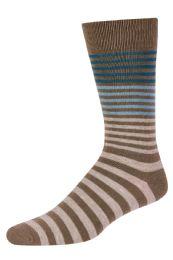 Men's Bamboo Nylon Spandex Crew Dress Socks In Khaki 120 pack