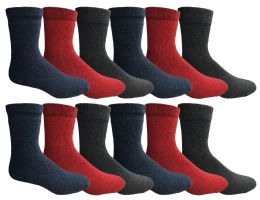 Yacht & Smith Womens Wholesale Winter Thermal Crew Socks Size 9-11 36 pack