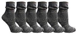 Yacht&Smith Ruffle Slouch Socks for Women, Unique Frilly Cuff Fashion Trendy Ankle Socks (6 Pair Navy Combo) 6 pack