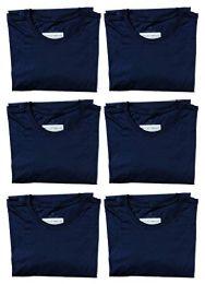 Mens Cotton Crew Neck Short Sleeve T-Shirts Navy, Large