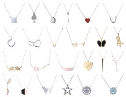 Yacht & Smith Lot Of Sterling Silver /stainless Steel Necklaces, Great Valentines Gift