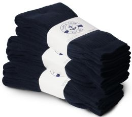 Yacht & Smith Men's Premium Cotton Crew Socks Navy Size 10-13 BULK PACK 60 pack
