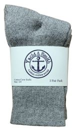 Yacht & Smith Kids Cotton Crew Socks Gray Size 4-6