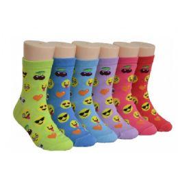 Girls Emoji Crew Socks 480 pack