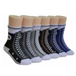Boys Sneaker Print Crew Socks 480 pack
