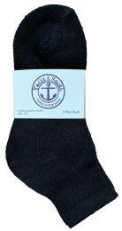 Yacht & Smith Kids Cotton Quarter Ankle Socks In Black Size 6-8 Bulk Pack