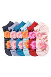 Girls Printed Casual Spandex Ankle Socks Size 9-11 Rosie 216 pack