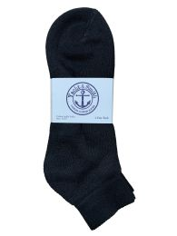 Yacht & Smith Men's Cotton Terry Cushion Athletic Low-Cut Socks King Size 13-16 Black