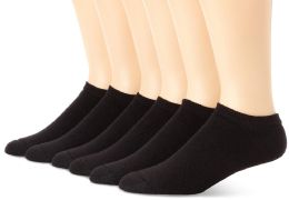 Yacht & Smith Women's NO-Show Cotton Ankle Socks Size 9-11 Black Bulk Pack