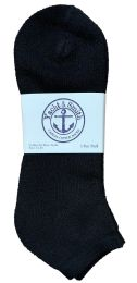 Yacht & Smith Men's King Size No Show Ankle Socks Size 13-16 Black BULK PACK 60 pack