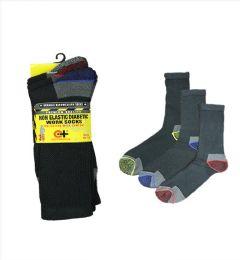 Men's Assorted Color Diabetic Work Sock 96 pack