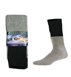 Men's Black Thermal Boot Sock, Size 10-15 120 pack