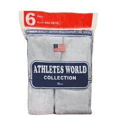 Men's 6 Pair Pack Heather Grey Over the Calf Tube Sock, Size 10-15 120 pack