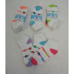 Girl's Anklet Socks 6-8 [Stripes & Daisies] 360 pack