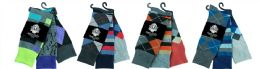Mens Assorted Pattern Dress Socks Size 10-13 60 pack