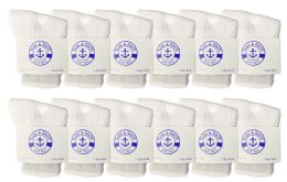 Yacht & Smith Kids Value Pack Of Cotton Crew Socks Size 2-4 White 12 pack