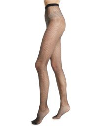 Yacht & Smith Fishnet Pantyhose, High Waisted Mesh Stockings, Black, One Size