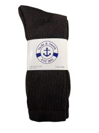 Yacht & Smith Men's Cotton Terry Crew Socks Size 10-13 Brown Bulk Pack
