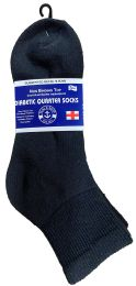 Yacht & Smith Men's King Size Loose Fit Non-Binding Cotton Diabetic Ankle Socks Black Size 13-16