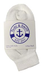 Yacht & Smith Kids Value Pack of Cotton Ankle Socks Size 2-4 White 60 pack