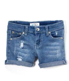 Girls' Premium Denim Shorts Size 7-14 12 pack