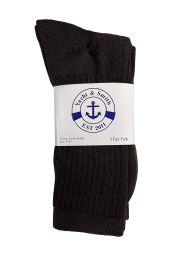 Yacht & Smith Women's Sports Crew Socks Size 9-11 Brown Bulk Pack 36 pack