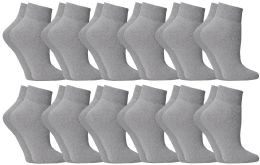 Yacht & Smith Women's No-Show Ankle Socks Size 9-11 Gray BULK PACK 60 pack