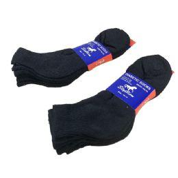3 Pair Pack Black Diabetic Quarter Socks 36 pack