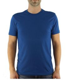 Mens Cotton Crew Neck Short Sleeve T-Shirts Royal Blue, X-Large 6 pack