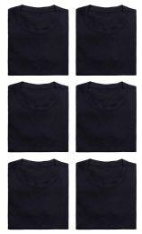 Mens Cotton Crew Neck Short Sleeve T-Shirts Black, XXX-Large 36 pack
