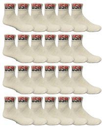 Yacht & Smith Men's King Size Cotton Sport Ankle Socks Size 13-16 Usa White