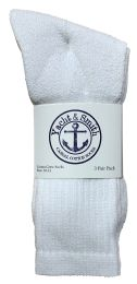 Yacht & Smith Men's Cotton Crew Socks White Size 10-13 240 pack