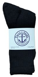 Yacht & Smith Women's Cotton Crew Socks Black Size 9-11 240 pack