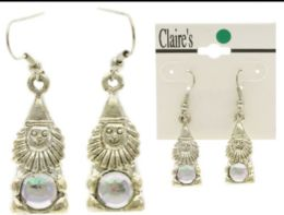 Gnomes Dangle Earrings With Bead Accents Silver Tone And Multi Color 36 pack