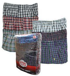 Men's 3 Pack Brown Cotton Boxer Shorts, Size 5XLarge 36 pack