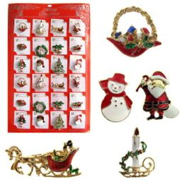Christmas Pins Display 48 pack