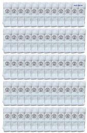 Yacht & Smith 28 Inch Men's Long Tube Socks, White Cotton Tube Socks Size 10-13 240 pack
