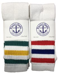 Yacht & Smith Men's 30 Inch Premium Cotton King Size Extra Long Old School Tube Socks- Size 13-16 72 pack