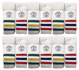 Yacht & Smith Men's 30 Inch Premium Cotton King Size Extra Long Old School Tube Socks- Size 13-16 12 pack