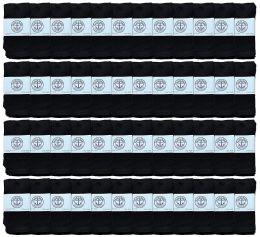Yacht & Smith Kids Black Solid Tube Socks Size 4-6 48 pack