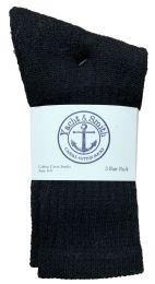 Yacht & Smith Kids Premium Cotton Crew Socks Black Size 6-8 240 pack