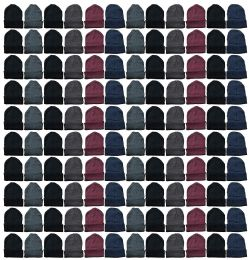 Yacht & Smith Mens Womens Warm Winter Hats in Assorted Colors, Mens Womens Unisex (144 Pairs Assorted) 144 pack
