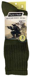 Yacht & Smith Men's Army Socks, Military Grade Socks Size 10-13 Solid Army Green