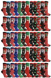 Yacht & Smith Printed Holiday Christmas Socks, Sock Size 9-11 120 pack