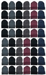 Yacht & Smith Wholesale Bulk Unisex Winter Beanies 72 pack